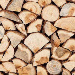 Doos met hout